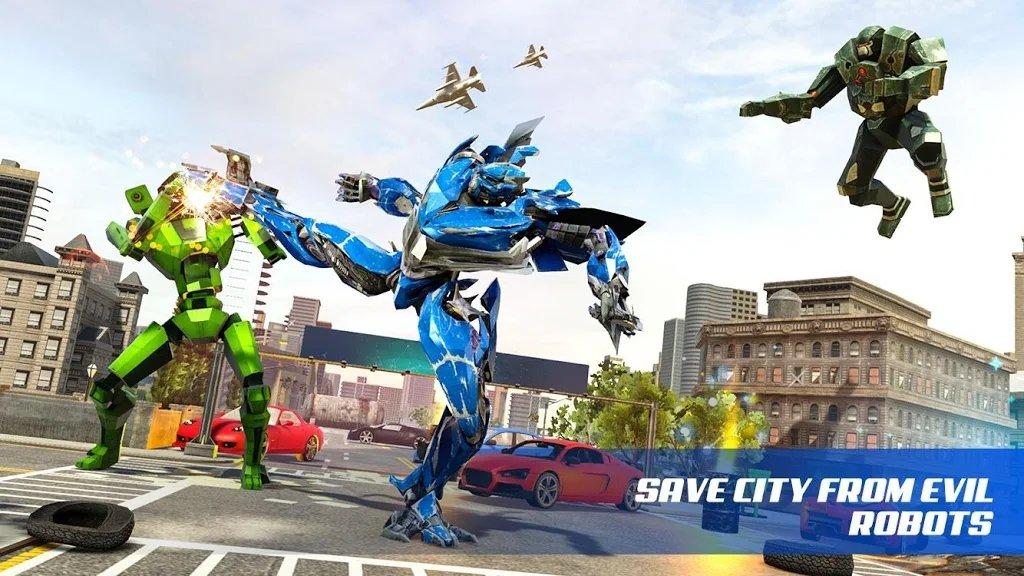 科莫多龙变形机器人射击