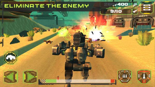 机械与坦克战斗
